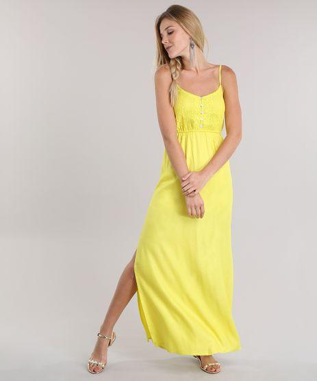 Vestido-Longo-com-Croche-Amarelo-8722802-Amarelo_1