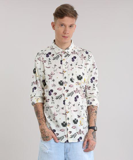 Camisa-Estampada-Floral-Bege-Claro-8687673-Bege_Claro_1