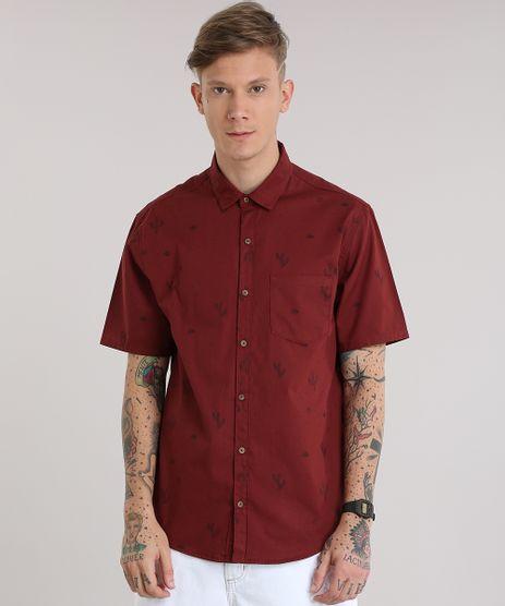 Camisa-Estampada-de-Cactos-Vinho-8822746-Vinho_1