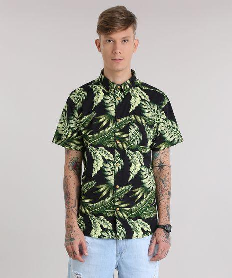 Camisa-Estampada-de-Folhas-Preta-8687655-Preto_1