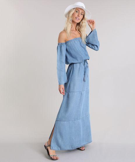 Vestido-Longo-Ombro-a-Ombro-Jeans-Cia--Maritima-Azul-Claro-8858716-Azul_Claro_1