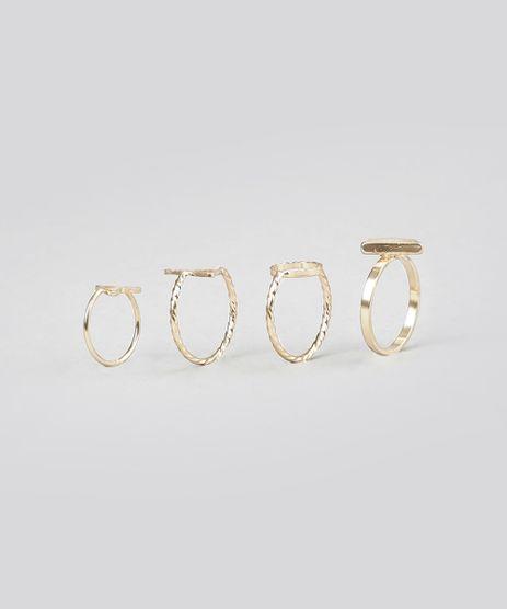 Kit-de-4-Aneis-Geometricos-Dourado-8717524-Dourado_1