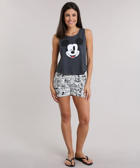 Pijama-Estampado-Mickey-Cinza-Mescla-Escuro-8828149-Cinza_Mescla_Escuro_1