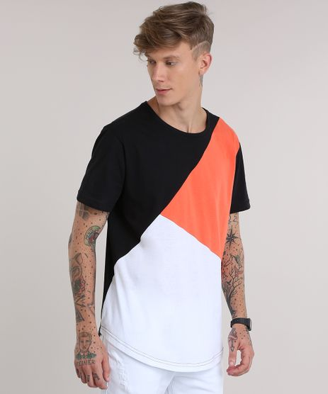 Camiseta-Longa-com-Recorte-Preta-8712612-Preto_1