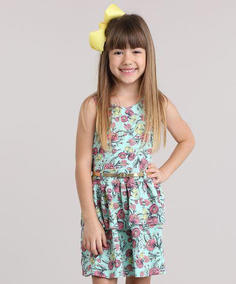 Vestido-Estampado-Floral-com-Cinto-Verde-Agua-8801476-Verde_Agua_1