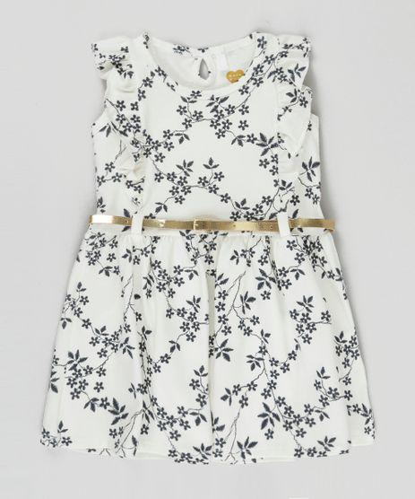 Vestido-Estampado-Floral-com-Cinto-Metalizado-Off-White-8827301-Off_White_1