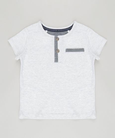 Camiseta-com-Bolso-em-Algodao---Sustentavel-Cinza-Mescla-8700854-Cinza_Mescla_1