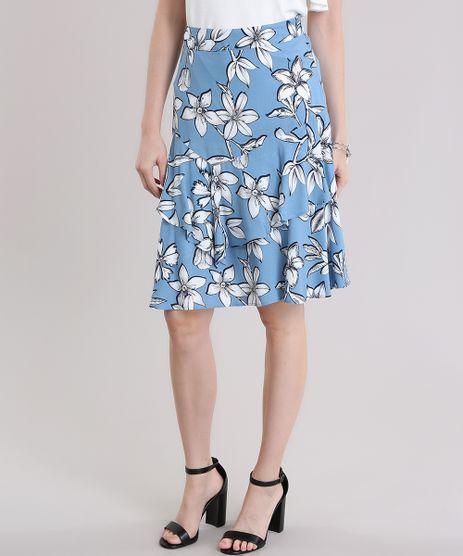Saia-Evase-Estampada-Floral-com-Babado-Azul-Claro-8654734-Azul_Claro_1