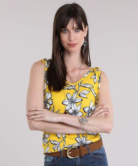 Regata-Estampada-Floral-Amarela-8833805-Amarelo_1
