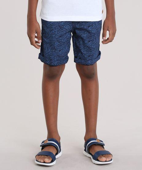 Bermuda-Slim-Estampada-de-Folhagem-Azul-Marinho-8795862-Azul_Marinho_1