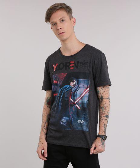 Camiseta-Star-Wars--Kylo-Ren--Cinza-Mescla-Escuro-8759284-Cinza_Mescla_Escuro_1