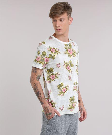 Camiseta-Botone-Estampada-Floral-Cinza-Mescla-Claro-8809959-Cinza_Mescla_Claro_1