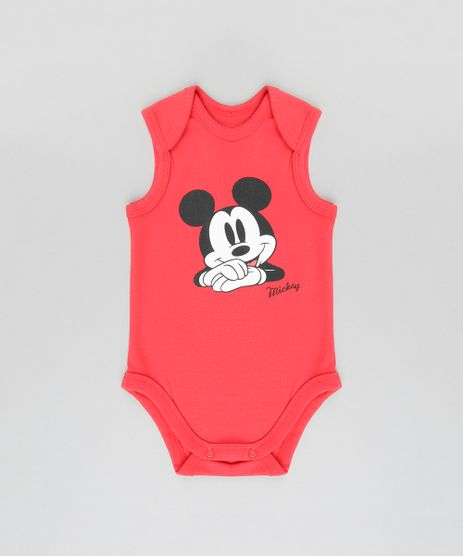 Body-Mickey-em-Algodao---Sustentavel-Vermelho-8648333-Vermelho_1