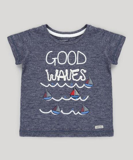 Camiseta-Mescla-com-Bordado--Good-Waves--Azul-Marinho-8812830-Azul_Marinho_1