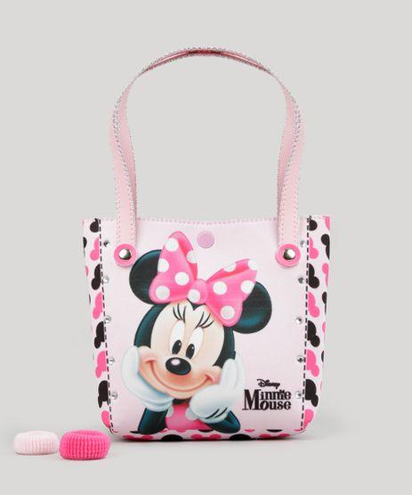 Bolsa-Estampada-Minnie---Elasticos-de-Cabelo-Rosa-Claro-8886275-Rosa_Claro_1