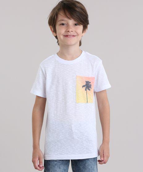 Camiseta-Flame-com-Bolso-Estampado-de-Coqueiro-Branca-8822161-Branco_1