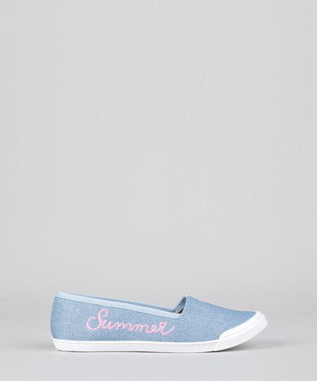 Slipper-Jeans-Molekinha-com-Bordado--Summer--Azul-Medio-8944681-Azul_Medio_1