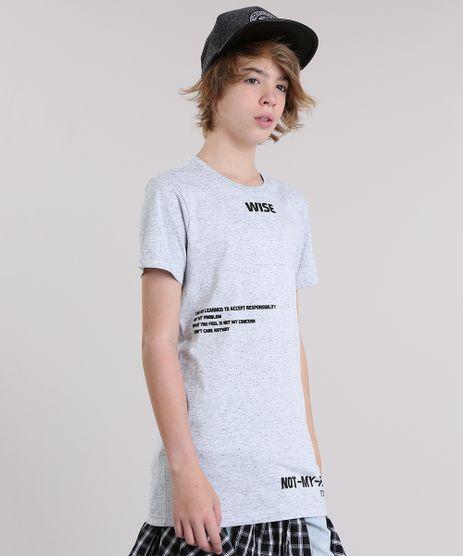 Camiseta-Longa-Botone--Wise--Cinza-Mescla-8798706-Cinza_Mescla_1