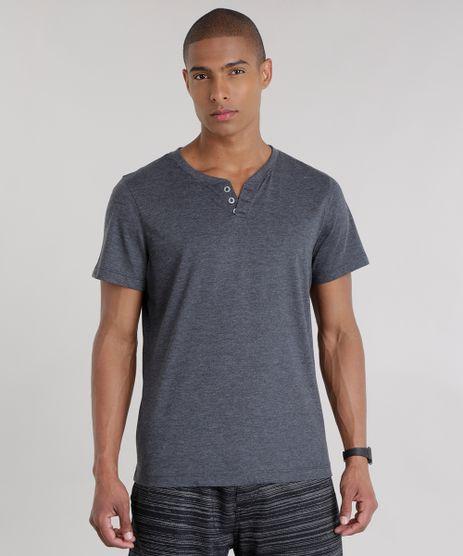 Camiseta-Basica-com-Botoes-Cinza-Mescla-Escuro-8548133-Cinza_Mescla_Escuro_1