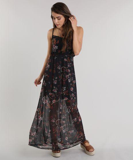 Vestido-Longo-Estampado-Floral-em-Tule-Preto-9011886-Preto_1