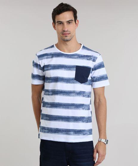 Camiseta-Listrada-de-Algodao---Sustentavel-Branca-8651310-Branco_1