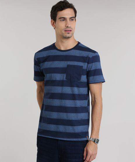 Camiseta-Listrada-de-Algodao---Sustentavel-Azul-Marinho-8651310-Azul_Marinho_1