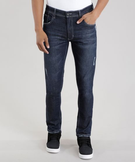 Calca-Jeans-Skinny-com-Algodao---Sustentavel-Azul-Escuro-8570385-Azul_Escuro_1