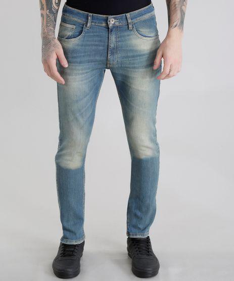 Calca-Jeans-Slim-com-Algodao---Sustentavel-Azul-Medio-8655403-Azul_Medio_1