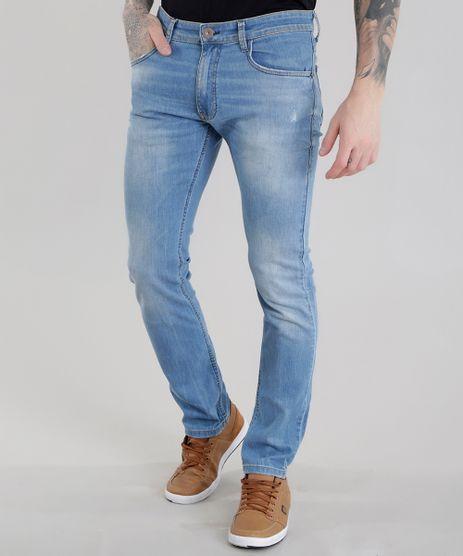 Calca-Jeans-Slim-com-Algodao---Sustentavel-Azul-Claro-8655423-Azul_Claro_1