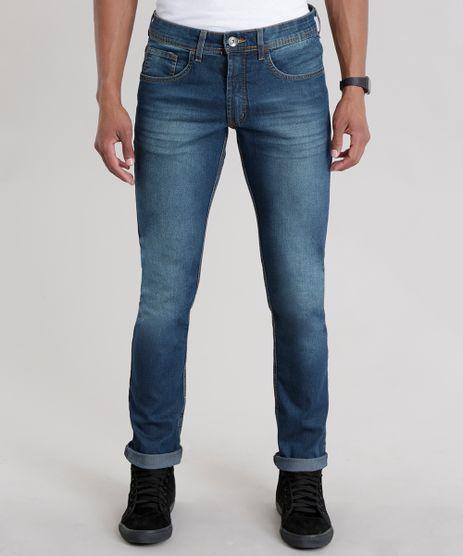 Calca-Jeans-Slim-com-Algodao---Sustentavel-Azul-Escuro-8257183-Azul_Escuro_1