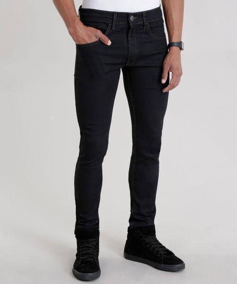 Calca-Jeans-Skinny-com-Algodao---Sustentavel-Preta-8368599-Preto_1