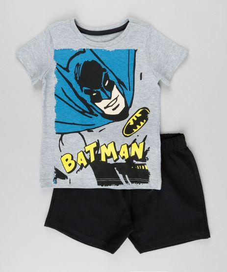 Conjunto-de-Camiseta-Batman-Cinza-Mescla---Bermuda-em-Moletom--Preta-8702544-Preto_1_1