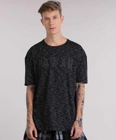 Camiseta-Longa-Mescla--Hawaii--Preta-8837677-Preto_1