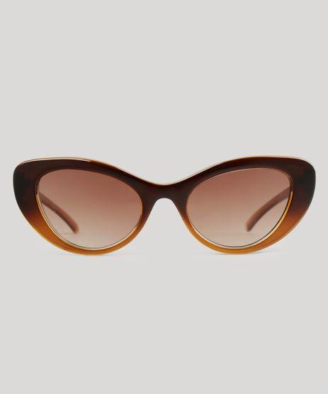 Oculos-de-Sol-Gatinho-Feminino-Oneself-Marrom-9010800-Marrom_1