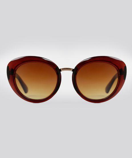 Oculos-de-Sol-Redondo-Feminino-Oneself-Marrom-9016443-Marrom_1