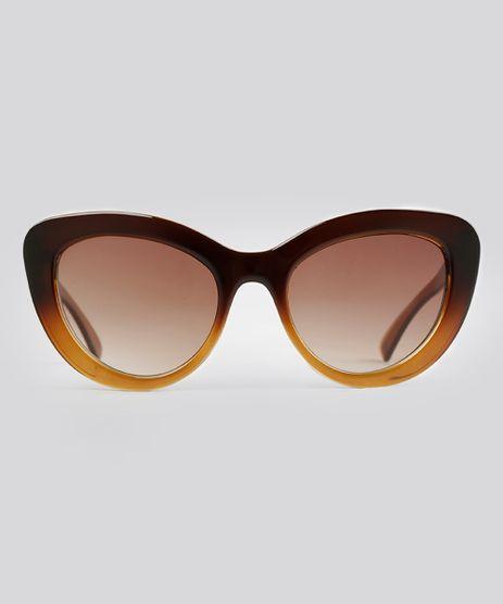 Oculos-de-Sol-Gatinho-Feminino-Oneself-Marrom-9010794-Marrom_1
