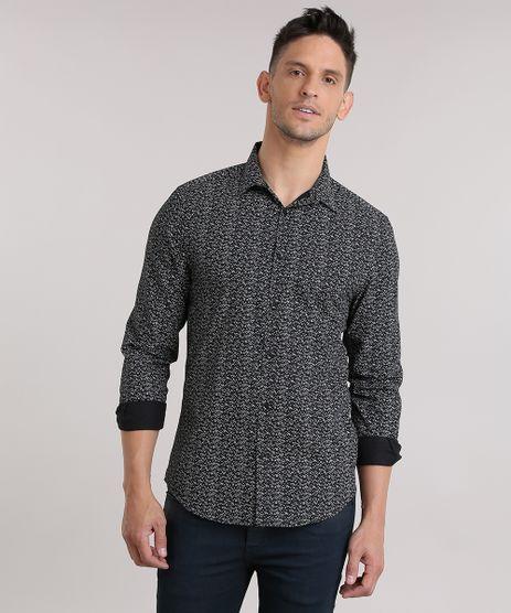 Camisa-Slim-Estampada-Preta-8635534-Preto_1