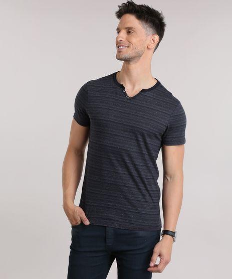 Camiseta-Botone-Listrada-Preta-8807237-Preto_1