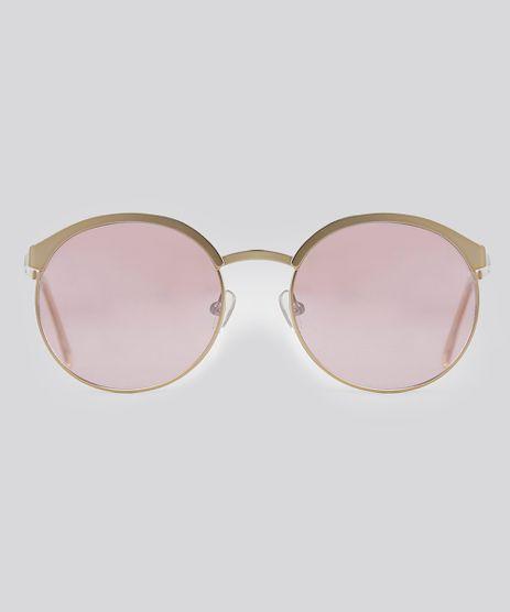 Oculos-de-Sol-Redondo-Feminino-Oneself-Dourado-8842412-Dourado_1