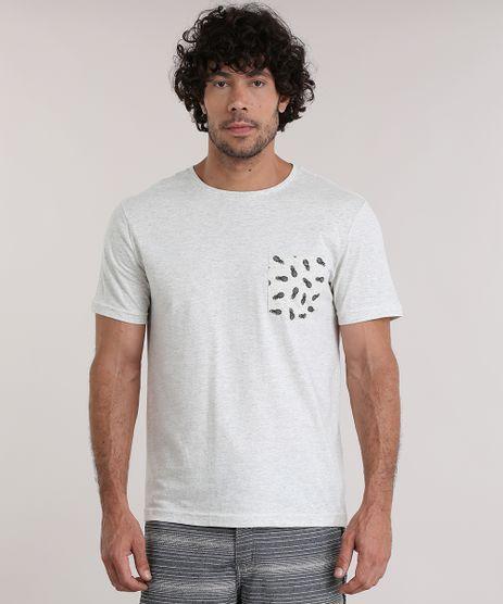 Camiseta-Mescla-com-Bolso-Estampado-de-Abacaxi-Bege-Claro-8931802-Bege_Claro_1
