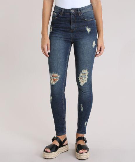 Calca-Jeans-Skinny-Destroyed-Sawary-Azul-Escuro-8832729-Azul_Escuro_1