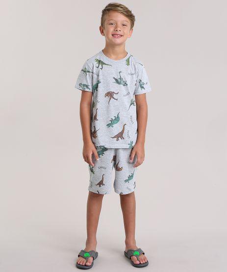 Pijama-Estampado-de-Dinossauros-Cinza-Mescla-8894815-Cinza_Mescla_1