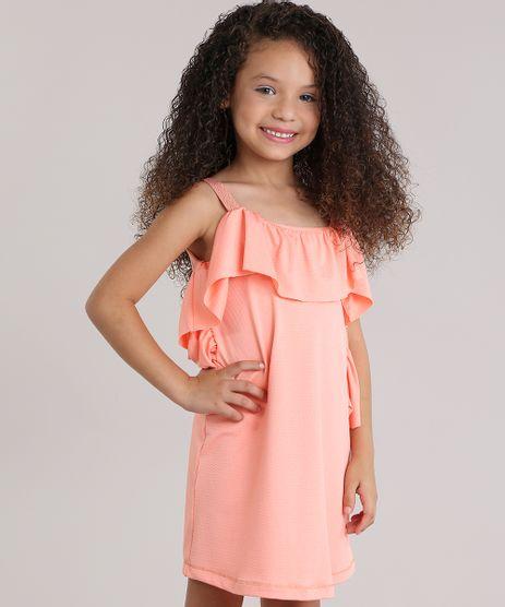 Vestido-Texturizado-com-Babado-Coral-8830233-Coral_1