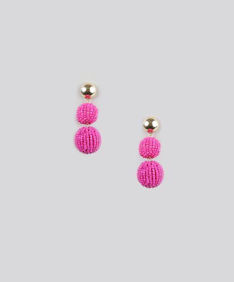 Brinco-com-Bolas-de-Micanga-Pink-8910686-Pink_1