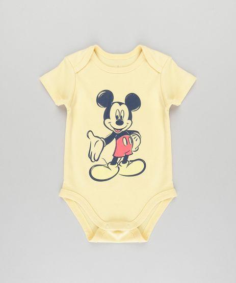 Body-Mickey-em-Algodao---Sustentavel-Amarelo-8692003-Amarelo_1