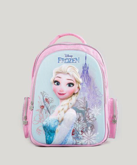 Mochila-Escolar-Infantil-Frozen--Elsa--de-Costas-3D-Rosa-8744644-Rosa_1