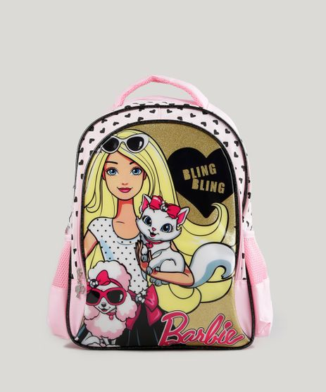 Mochila-Escolar-Infantil-Barbie-de-Costas-Rosa-8744668-Rosa_1