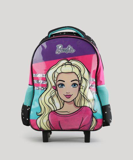 Mochila-Escolar-Infantil-Barbie-com-Rodinhas-Preta-8744671-Preto_1