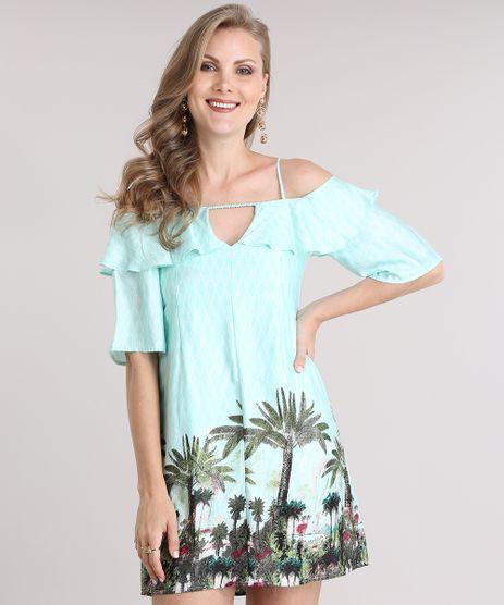 Vestido-Open-Shoulder-Estampado-com-Babados-Verde-Claro-8751072-Verde_Claro_1