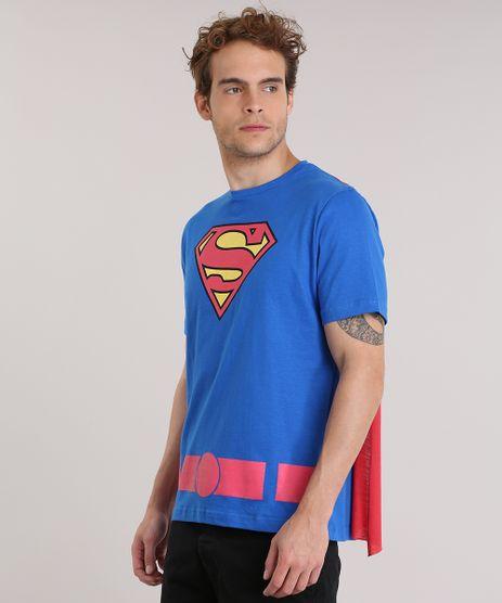 Camiseta-Super-Homem-com-Capa-Azul-8911916-Azul_1